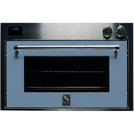 STEEL MULTIFUNCTION OVEN GENESI SERIES GFE9 STAINLESS STEEL AND PASTEL BLUE 90 CM EEC A