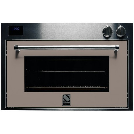 STEEL MULTIFUNCTION OVEN GENESI SERIES GFE9 STAINLESS STEEL AND SAND 90 CM EEC A
