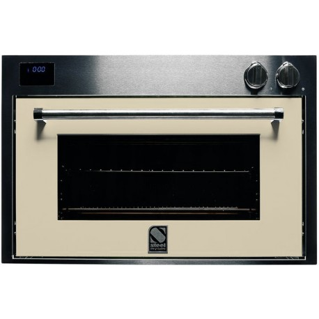 STEEL MULTIFUNCTION COMBI-STEAM OVEN GENESI SERIES GFE9-S STAINLESS STEEL AND CREAM 90 CM EEC A