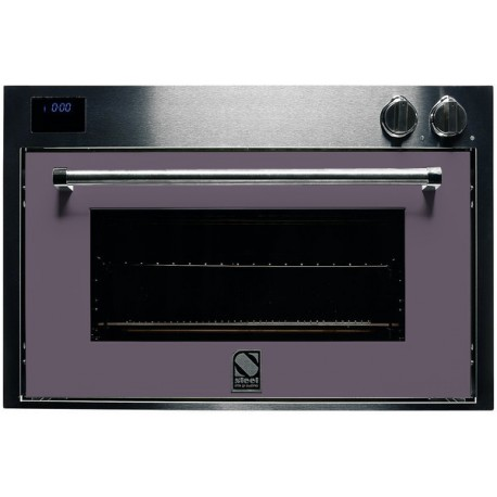 STEEL MULTIFUNCTION COMBI-STEAM OVEN GENESI SERIES GFE9-S STAINLESS STEEL AND AMETHYST 90 CM EEC A