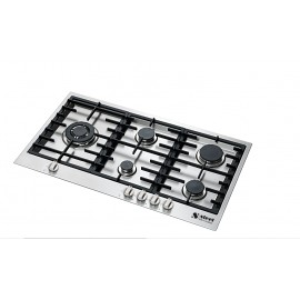 STEEL GENESI GAS HOB GP9B-5 STAINLESS STEEL BASE 90 CM