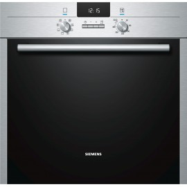 SIEMENS ELECTRIC THERMOVENTILATED PYROLYTIC OVEN HB63AB521J STAINLESS STEEL AND BLACK GLASS  60 CM EEC A -30%