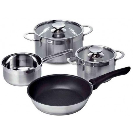 SIEMENS HZ390042 4 PIECES PAN AND SAUCEPAN SET FOR INDUCTION HOBS