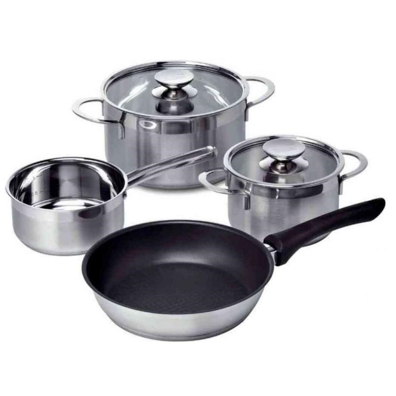 siemens hz390042 4 pieces pan and saucepan set for. Black Bedroom Furniture Sets. Home Design Ideas