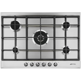 SMEG GAS HOB P372XGH CLASSIC AESTHETIC STAINLESS STEEL BASE 72.5 CM