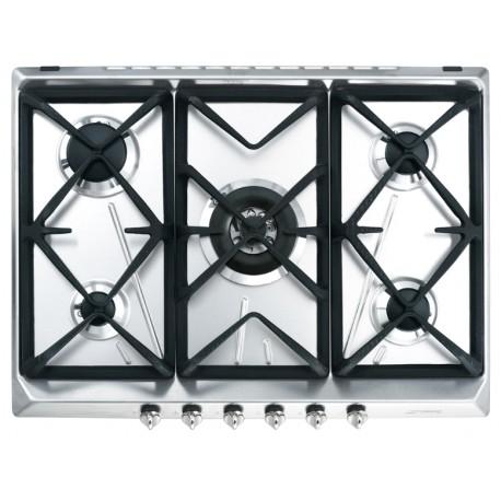 table de cuisson smeg srv576gh5 acier inox 70 cm fab appliances. Black Bedroom Furniture Sets. Home Design Ideas