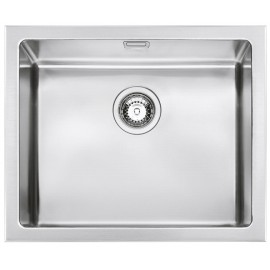 SMEG VQR50 MIRA KITCHEN SINK SINGLE BOWL BRUSHED STAINLESS STEEL 57 CM
