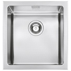 SMEG VQR40 MIRA KITCHEN SINK SINGLE BOWL BRUSHED STAINLESS STEEL 41 CM