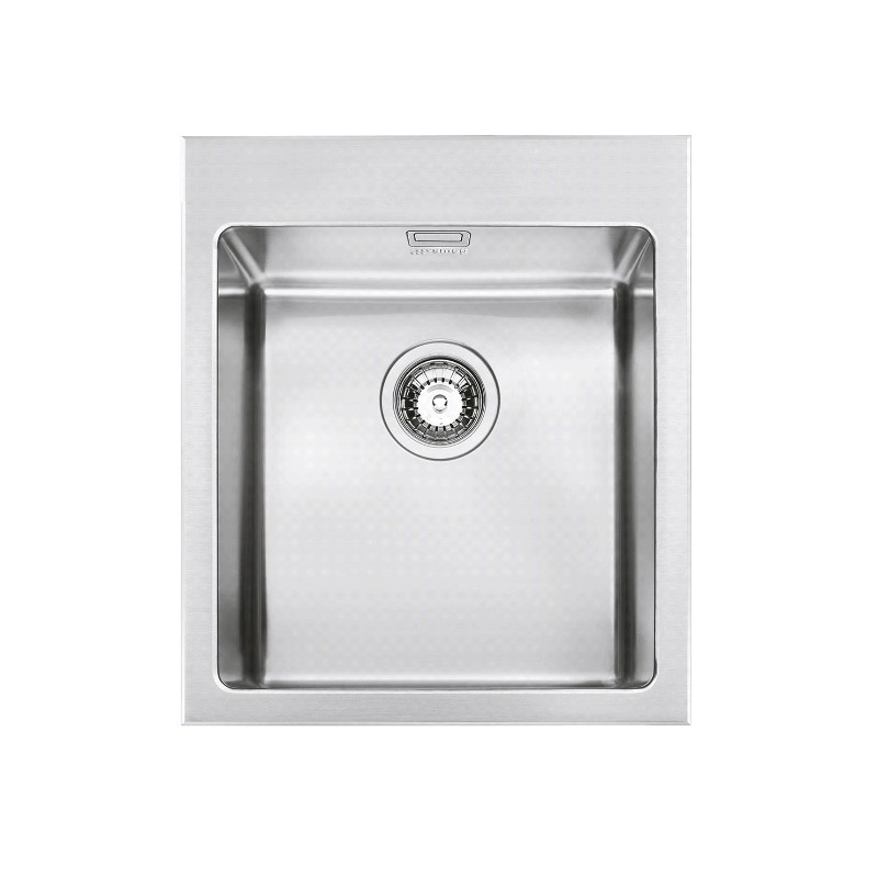 Smeg Vqr40rs Mira Kitchen Sink Single Bowl Brushed Stainless Steel