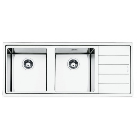SMEG LFT116D MIRA KITCHEN SINK 2 BOWLS BRUSHED STAINLESS STEEL FLUSH FITTED