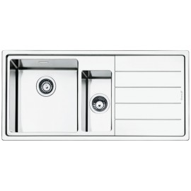 SMEG LFT102D MIRA KITCHEN SINK 1.5 BOWLS BRUSHED STAINLESS STEEL FLUSH FITTED