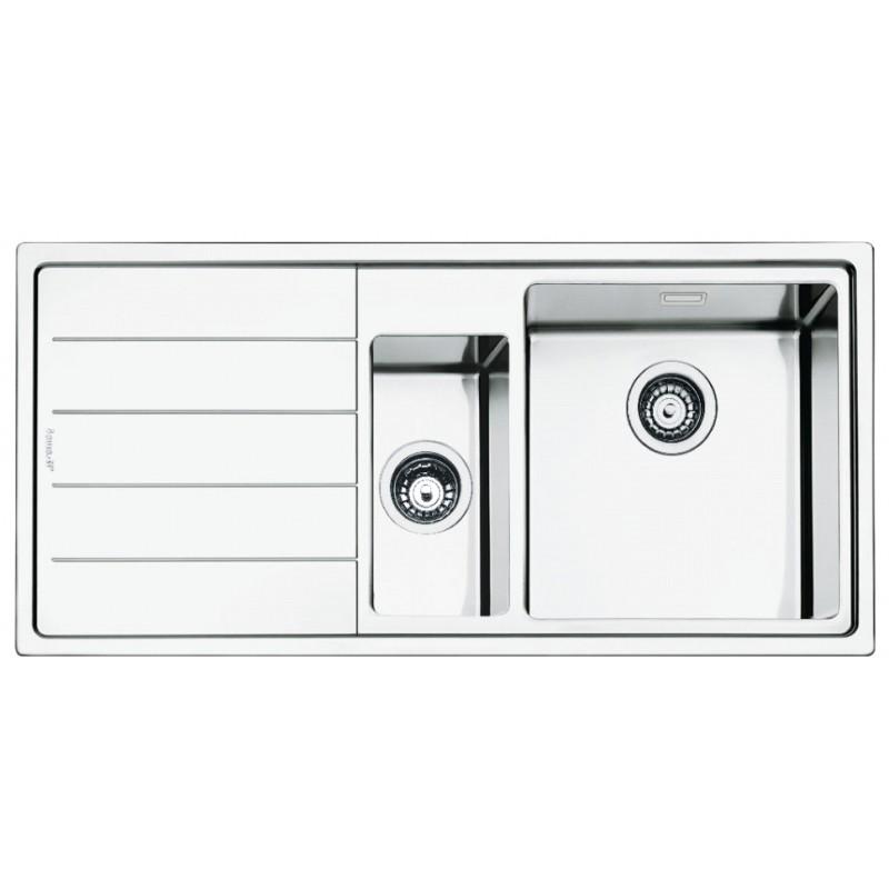 Smeg Lft102s Mira Kitchen Sink 1 5 Bowls Brushed Stainless Steel Fl