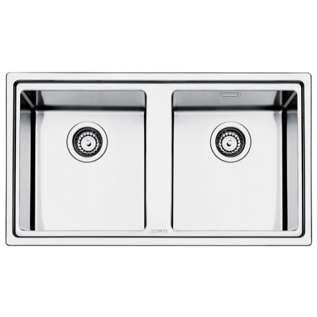 SMEG LFT862 MIRA KITCHEN SINK 2 BOWLS BRUSHED STAINLESS STEEL FLUSH FITTED