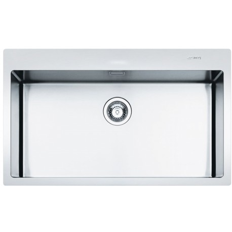 SMEG LFTR77RS MIRA KITCHEN SINK 1 BOWL BRUSHED STAINLESS STEEL FLUSH FITTED 77 CM