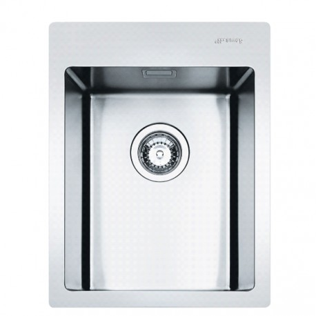 SMEG LFT34RS MIRA KITCHEN SINK 1 BOWL BRUSHED STAINLESS STEEL FLUSH FITTED 40 CM