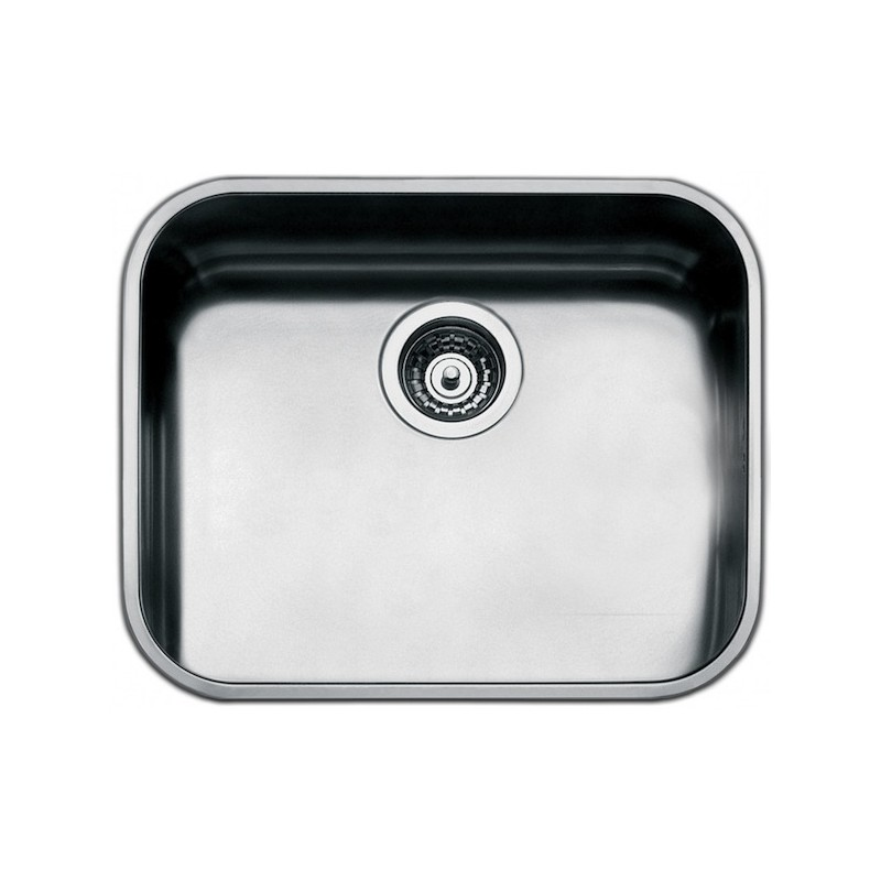 ... UNDERMOUNTED KITCHEN SINK SINGLE BOWL BRUSHED STAINLESS STEEL 50 CM