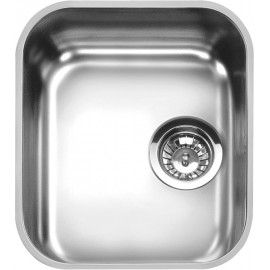SMEG UM34 UNDERMOUNTED KITCHEN SINK SINGLE BOWL BRUSHED STAINLESS STEEL 34 CM