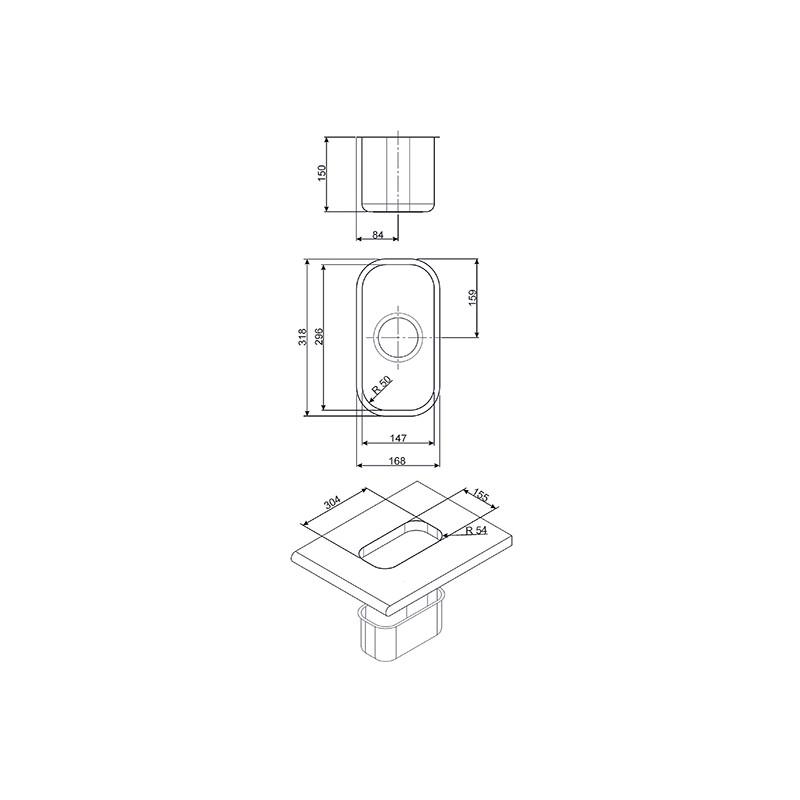 smeg um15 vier encastrable sous plan 1 cuve acier. Black Bedroom Furniture Sets. Home Design Ideas