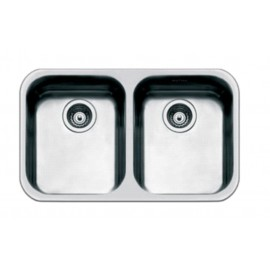SMEG UM4040 KITCHEN SINK UNDERMOUNTED 2 BOWLS BRUSHED STAINLESS STEEL
