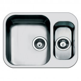 SMEG UM3415 KITCHEN SINK UNDERMOUNTED 1.5 BOWLS BRUSHED STAINLESS STEEL