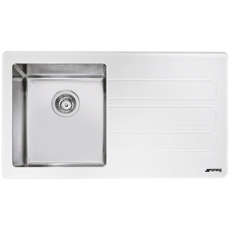 SMEG LMN1VBD NEWSON DESIGN KITCHEN SINK 1 BOWL BRUSHED STAINLESS ST...