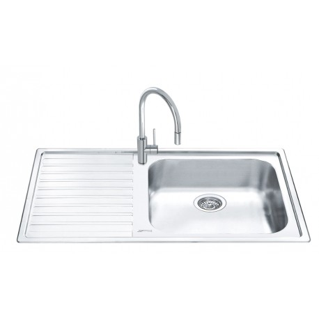SMEG LG150S-2 KITCHEN SINK 1 BOWL STAINLESS STEEL 100 CM