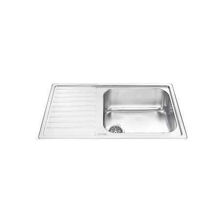 SMEG LG861S-2 KITCHEN SINK 1 BOWL BRUSHED STAINLESS STEEL