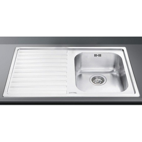 SMEG LL861S-2 KITCHEN SINK 1 BOWL BRUSHED STAINLESS STEEL