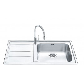 SMEG LEH150S RIGAE KITCHEN SINK 1 BOWL  STAINLESS STEEL 100 CM