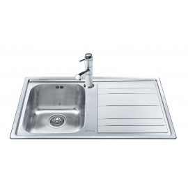 SMEG LEH861D RIGAE KITCHEN SINK 1 BOWL BRUSHED STAINLESS STEEL
