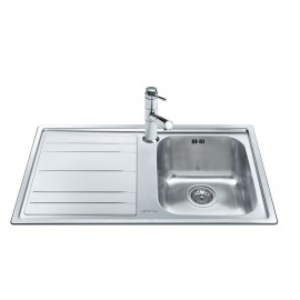 SMEG LEH861S RIGAE KITCHEN SINK 1 BOWL BRUSHED STAINLESS STEEL