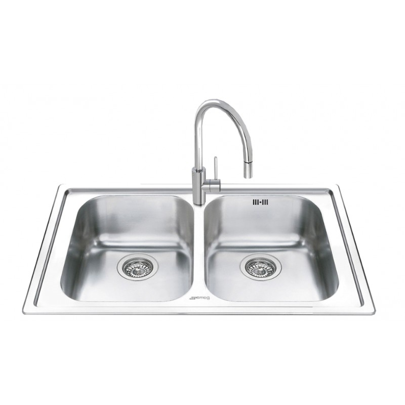 kitchen sink picture smeg leh862 kitchen sink 2 bowls brushed stainless steel 2820