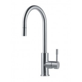 FRANKE EOS SINGLE LEVER SINK MIXER TAP BRUSHED STAINLESS STEEL