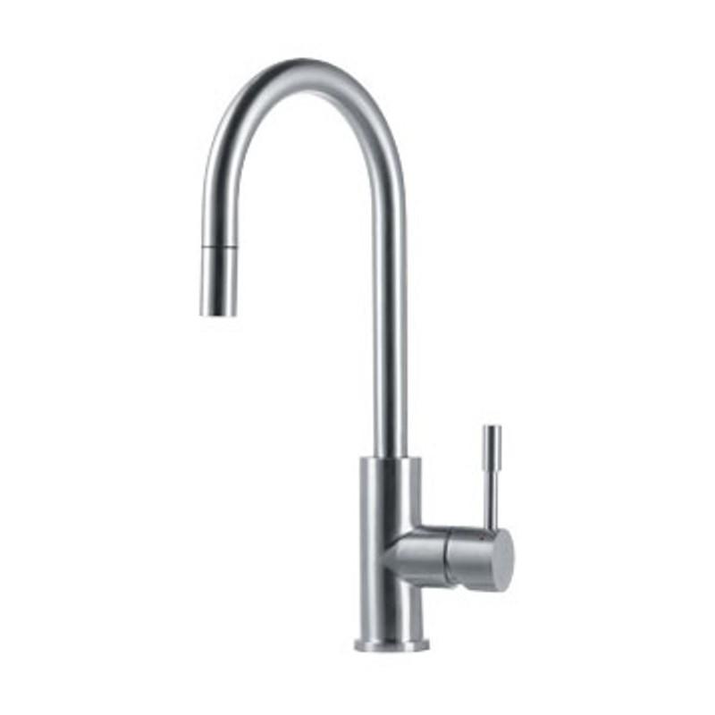 Franke eos single lever sink mixer tap brushed stainless - Robinet franke avec douchette ...