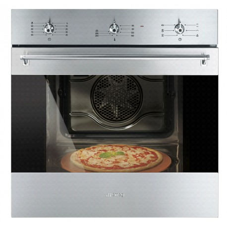 SMEG MULTIFUNCTION PIZZA OVEN SF6381XPZ CLASSIC AESTHETIC STAINLESS STEEL 60 CM