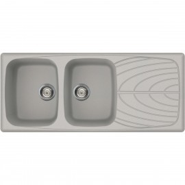 ELLECI KITCHEN SINK MASTER 500 2 BOWLS OATMEAL MADE IN ITALY