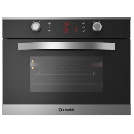 SMALVIC ELECTRIC MULTIFUNCTION COMBI STEAM COMPACT OVEN LINEAR 60 FI-45VP LX12-ETCR SMOKED GLASS - 60 CM