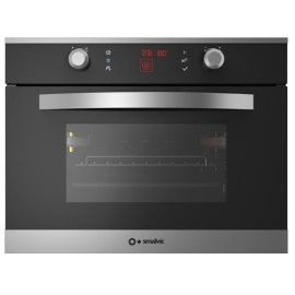 SMALVIC ELECTRIC MULTIFUNCTION COMPACT OVEN LINEAR 45 FI-45MT LX12-ETCR INOX SMOKED GLASS - 60 CM