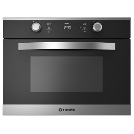 SMALVIC ELECTRIC MULTIFUNCTION/MICROWAVE COMPACT OVEN LINEAR 45 FI-45MW LX12-ETCW INOX SMOKED GLASS - 60 CM