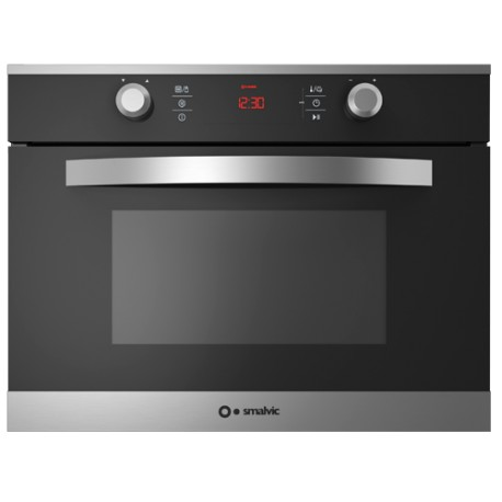 SMALVIC ELECTRIC MULTIFUNCTION/MICROWAVE COMPACT OVEN LINEAR 45 FI-45MW LX12-ETCR INOX SMOKED GLASS - 60 CM