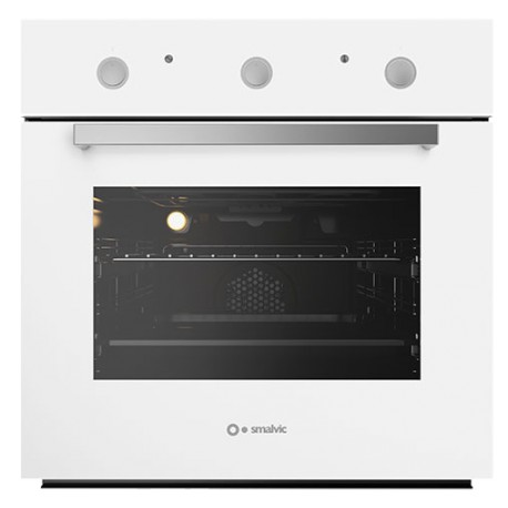 SMALVIC ELECTRIC MULTIFUNCTION OVEN FLAT 60 FI-60WT OVP-PSC WHITE GLASS - 60 CM