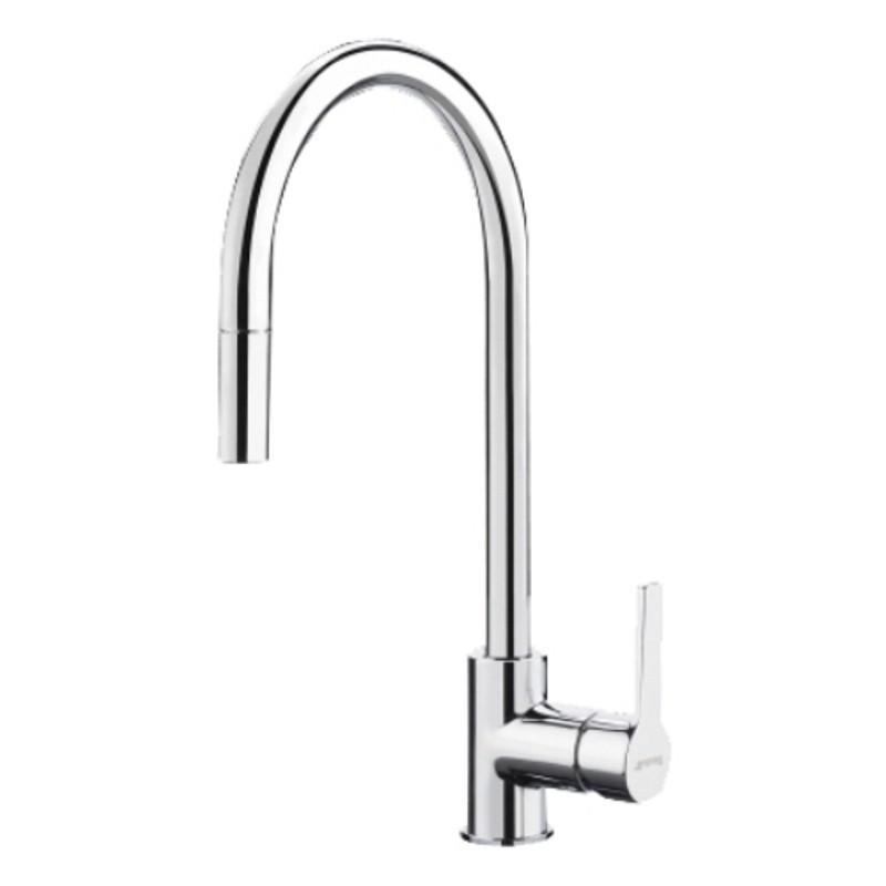 smeg mid2cr single lever sink mixer tap chrome fab appliances