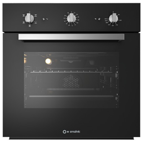 SMALVIC ELECTRIC MULTIFUNCTION OVEN BASIC 60 FI-60WT NC60-PSC BLACK - 60 CM