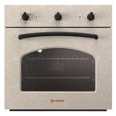SMALVIC ELECTRIC MULTIFUNCTION OVEN BASIC 60 FI-60WT R61F-PSC OATMEAL - 60 CM