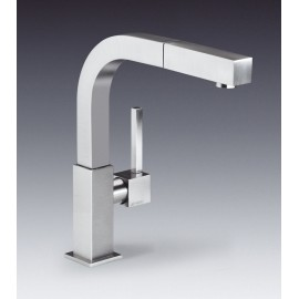 SMEG MDQ5-CSP SINGLE LEVER SINK MIXER TAP BRUSHED STAINLESS STEEL