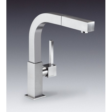 SMEG MDQ5-IS2 SINGLE LEVER SINK MIXER TAP BRUSHED STAINLESS STEEL