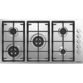 SMALVIC FLUSH FITTED GAS HOB PREMIUM 95 PFT-95 3G2DC VS INOX GG STAINLESS STEEL - 95 CM