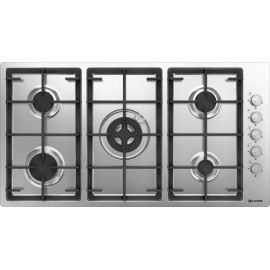 SMALVIC FLUSH FITTED GAS HOB PREMIUM 95 PFT-95 4GDC VS INOX GG STAINLESS STEEL - 95 CM