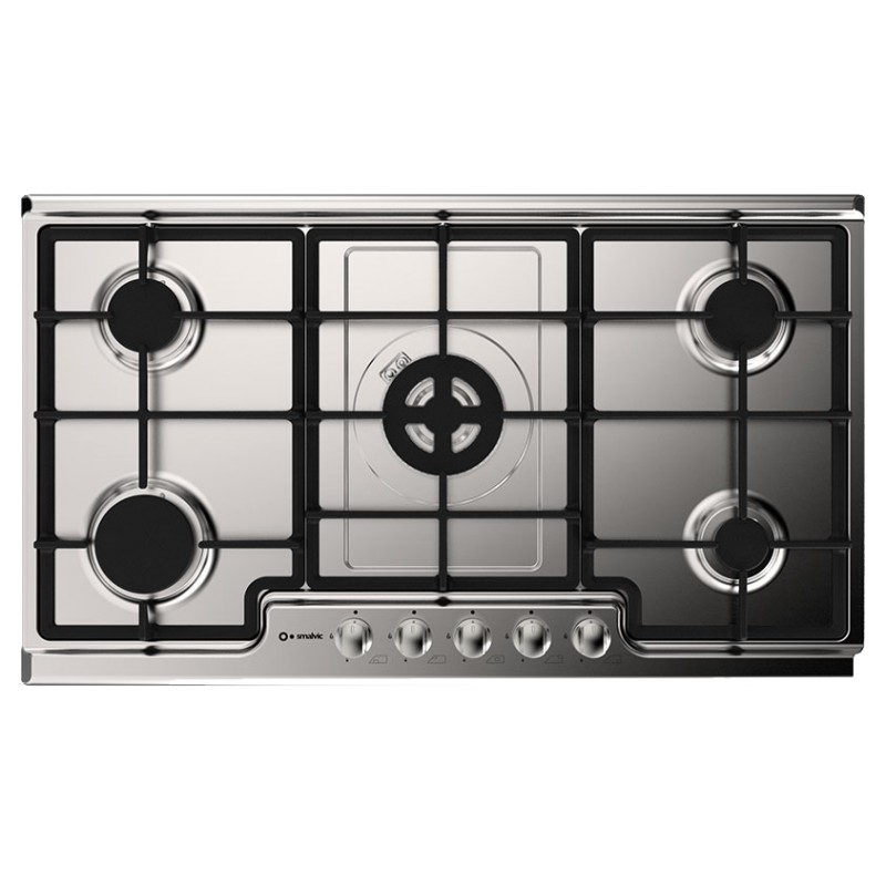 SMALVIC GAS HOB TARGET 90 PD 90V4G1DC INOX GG STAINLESS