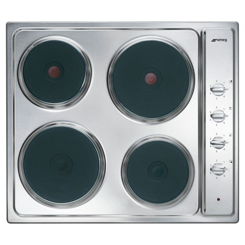 Smeg Electric Hob Cucina Se435s Stainless Steel 60 Cm